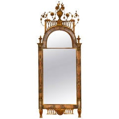 18th Century Altona Mirror with Bilbao Marble