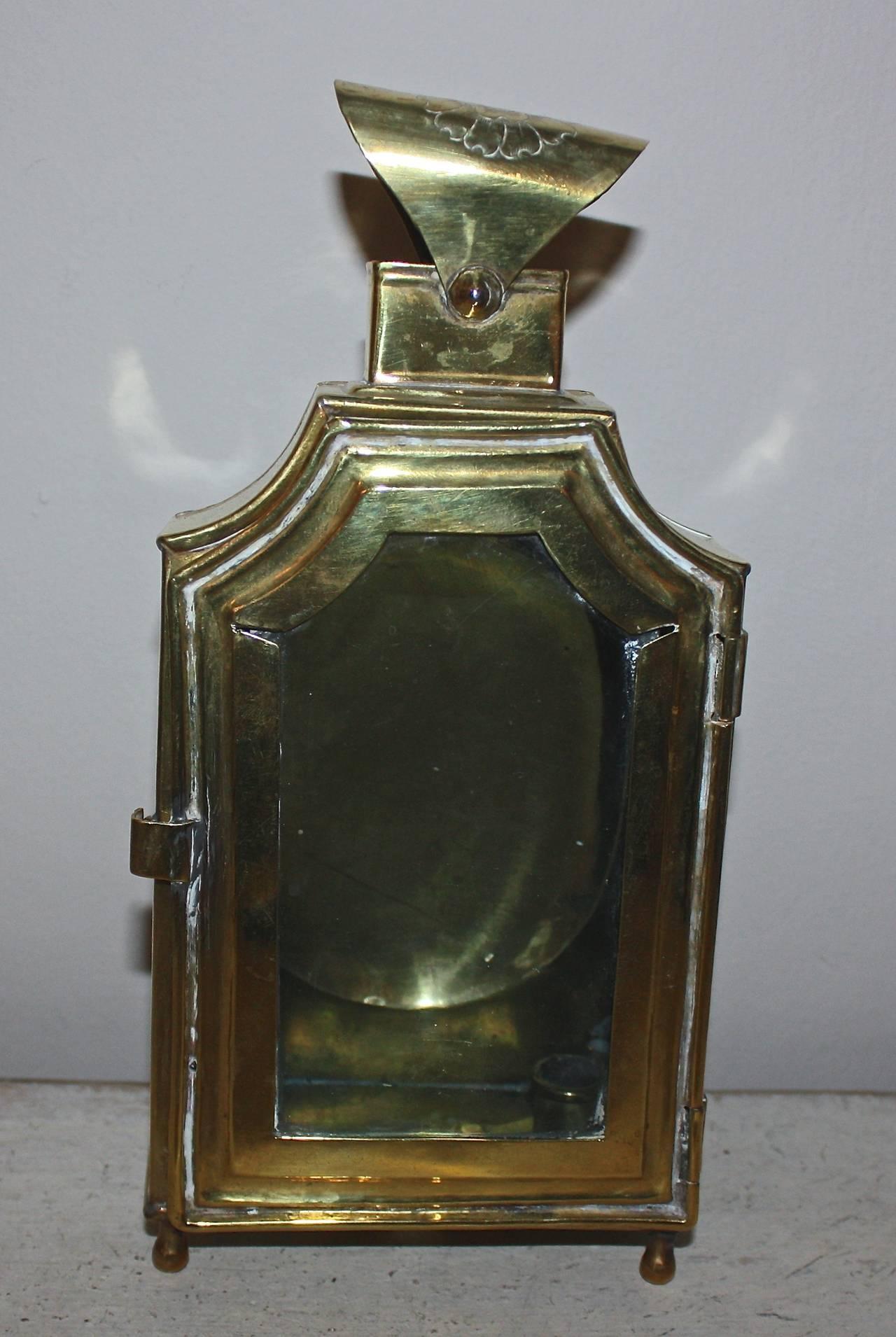 Beautifull Rococo brass lantern.