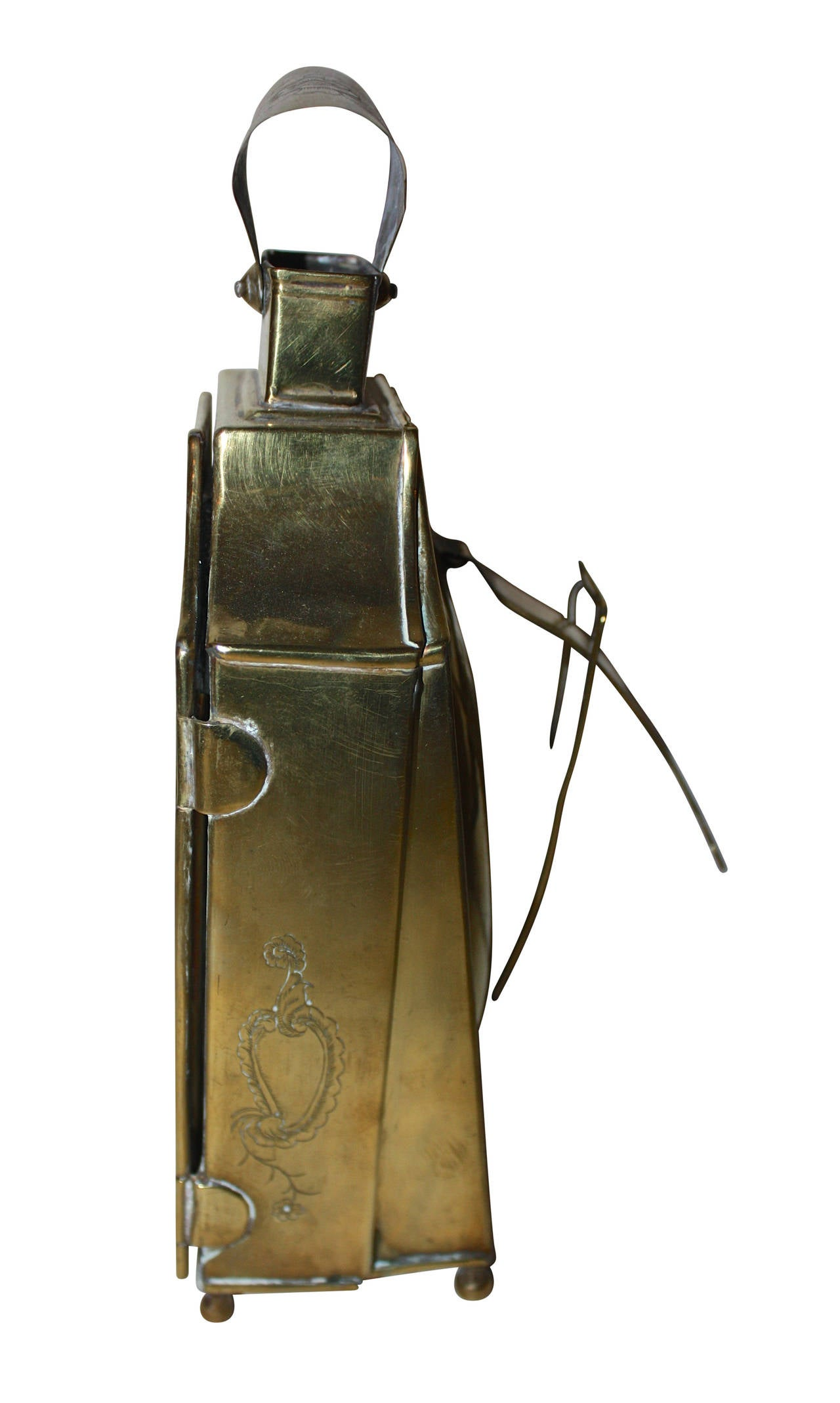 18th Century Rococo Brass Lantern In Excellent Condition For Sale In Copenhagen, K