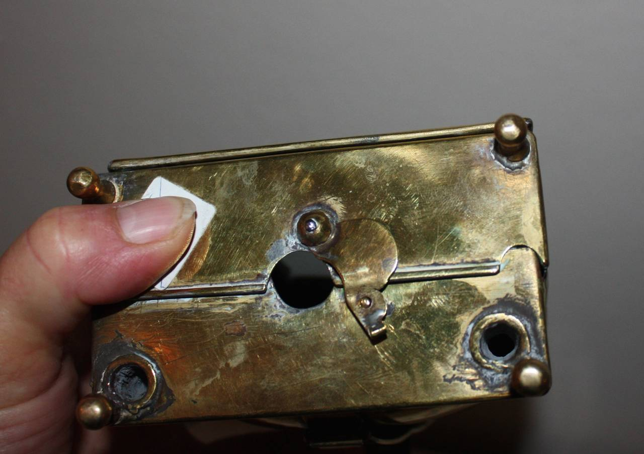 18th Century Rococo Brass Lantern For Sale 3