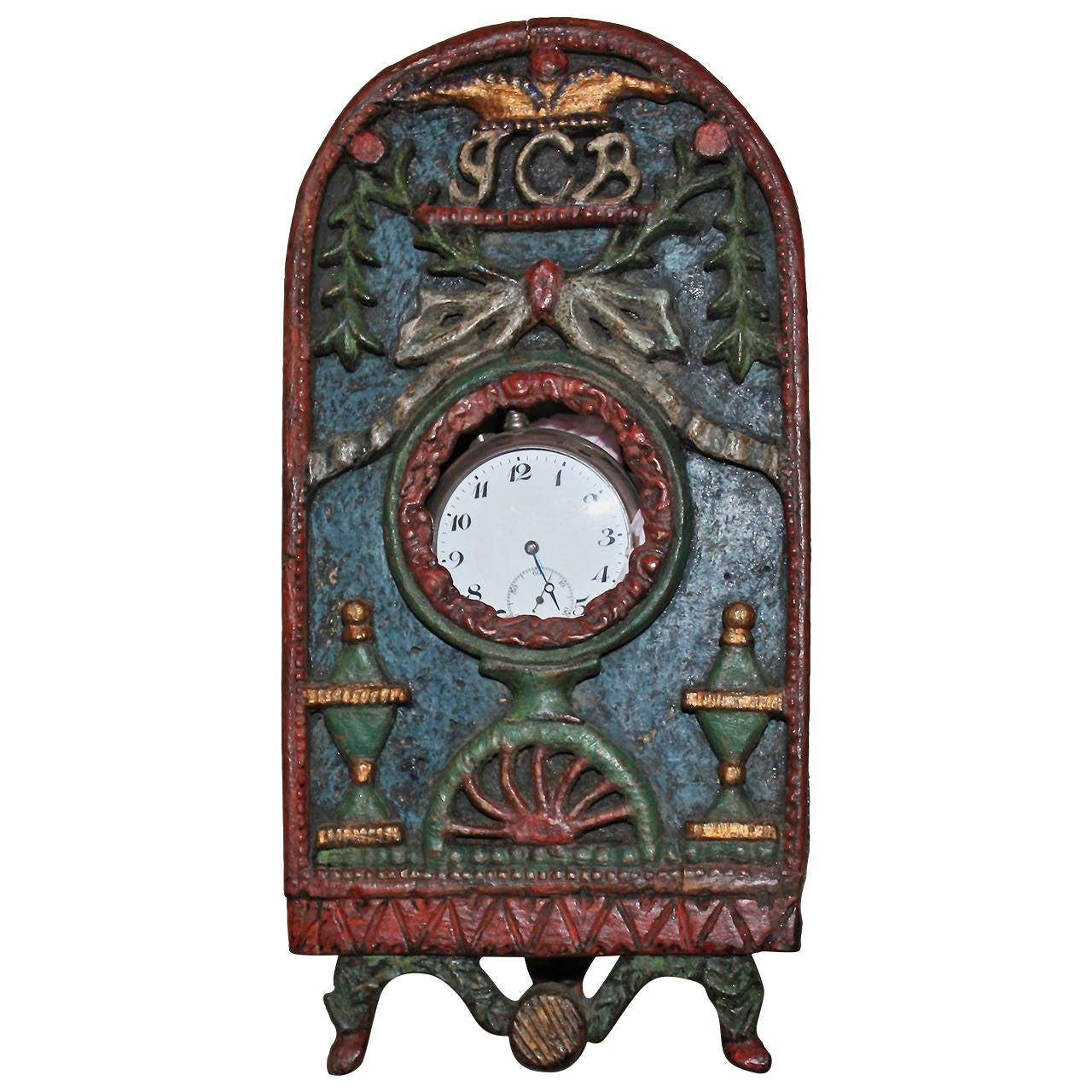 18th Century Folk Art Watch Holder