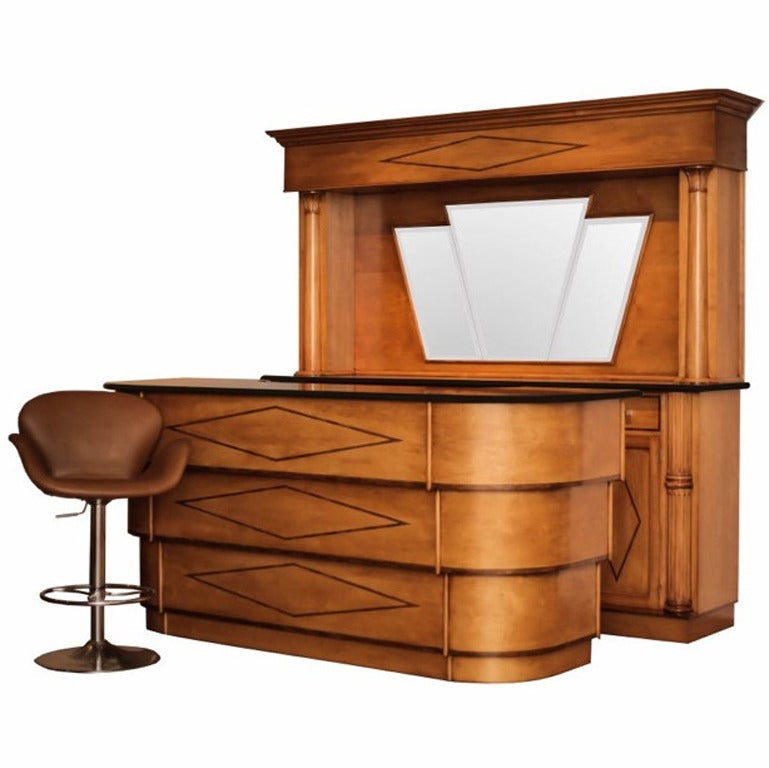 Art Deco Style Front And Back Bar At 1stdibs