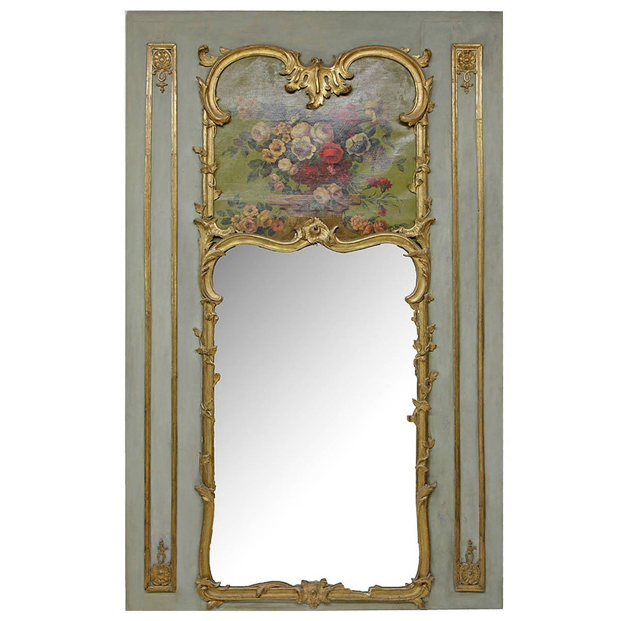 France baroque trumeau mirror 18th century for sale at for Baroque mirror