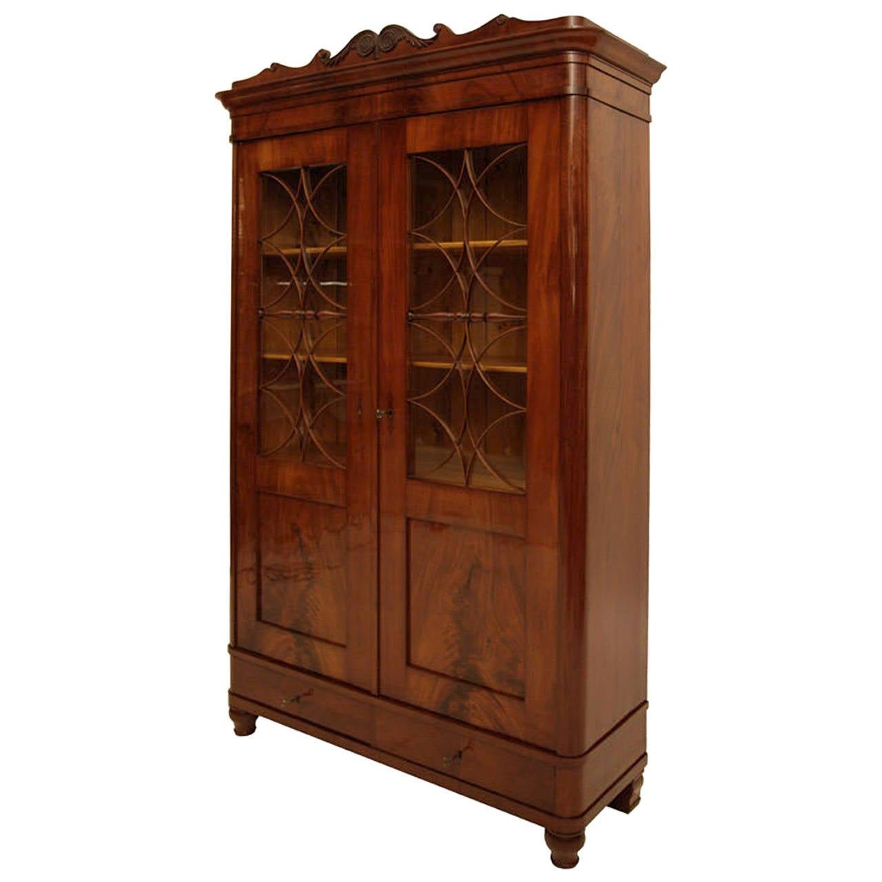 High Quality Biedermeier Bookcase Dating From The 1830s At