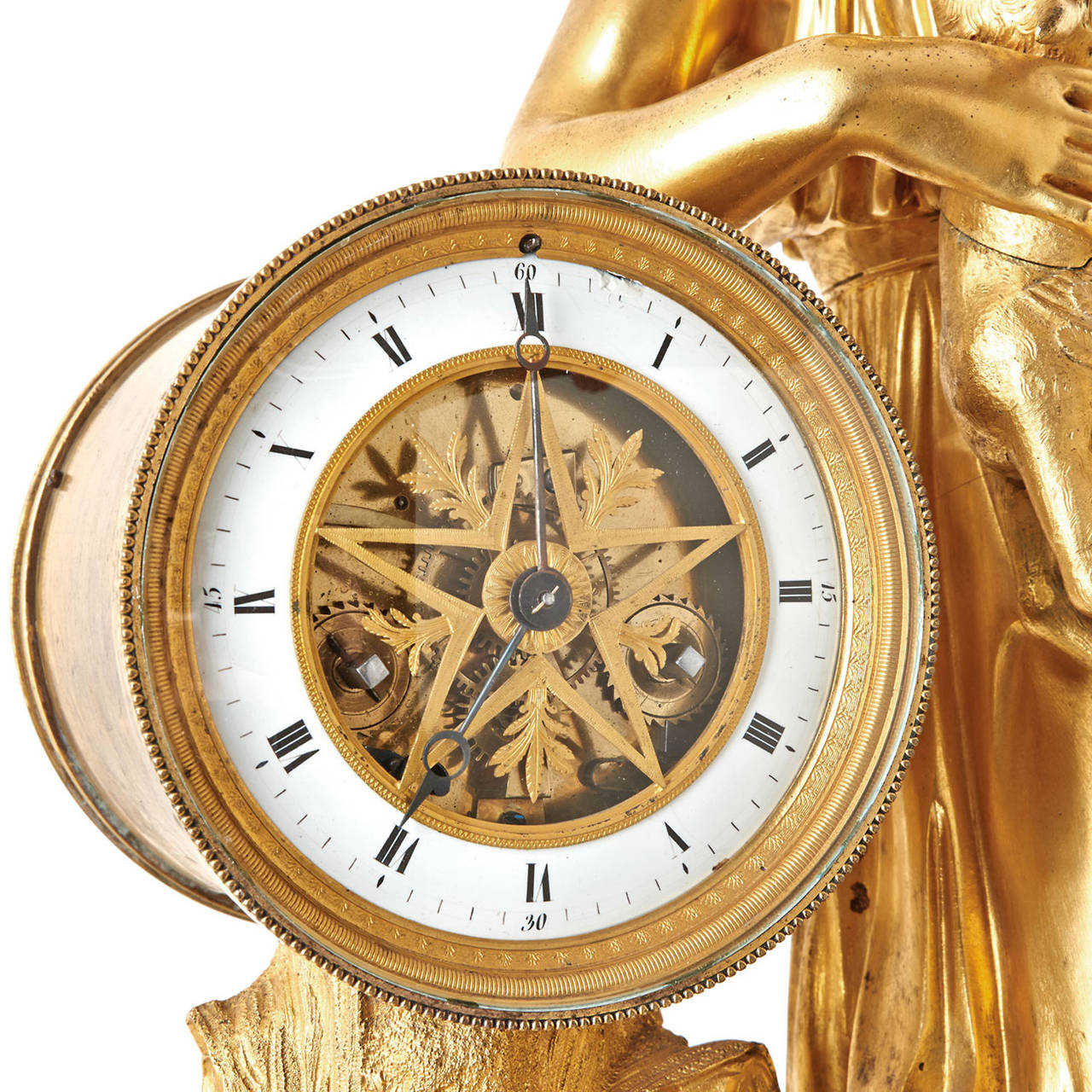 Unique Italian Fire Gilded Table Clock At 1stdibs