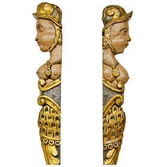Pair of Exceptional Italian Wood Carved Reliefs, circa 18th Century