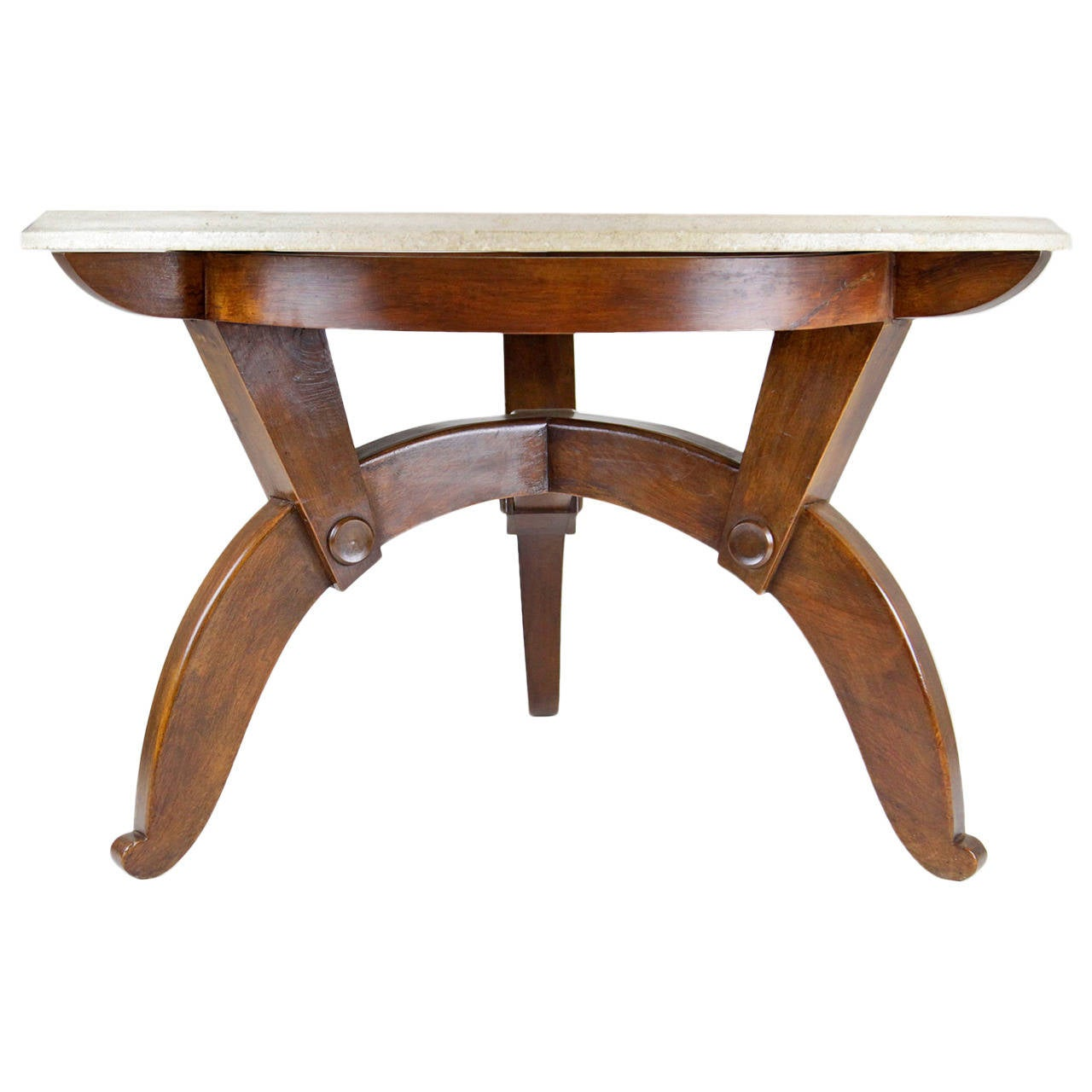 very nice french coffee table from victor courtray for