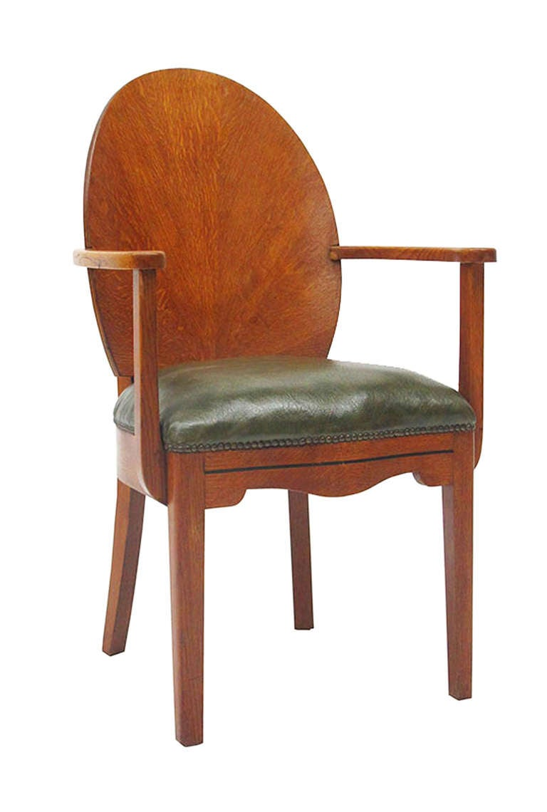 Beautiful Ensemble Of Twelve Art Deco Dining Chairs And