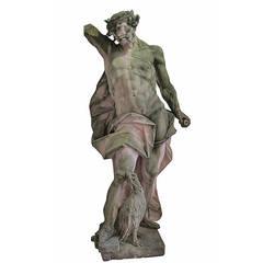 Very Nice Sandstone Depiction of Zeus, Mid-Late 18th Century