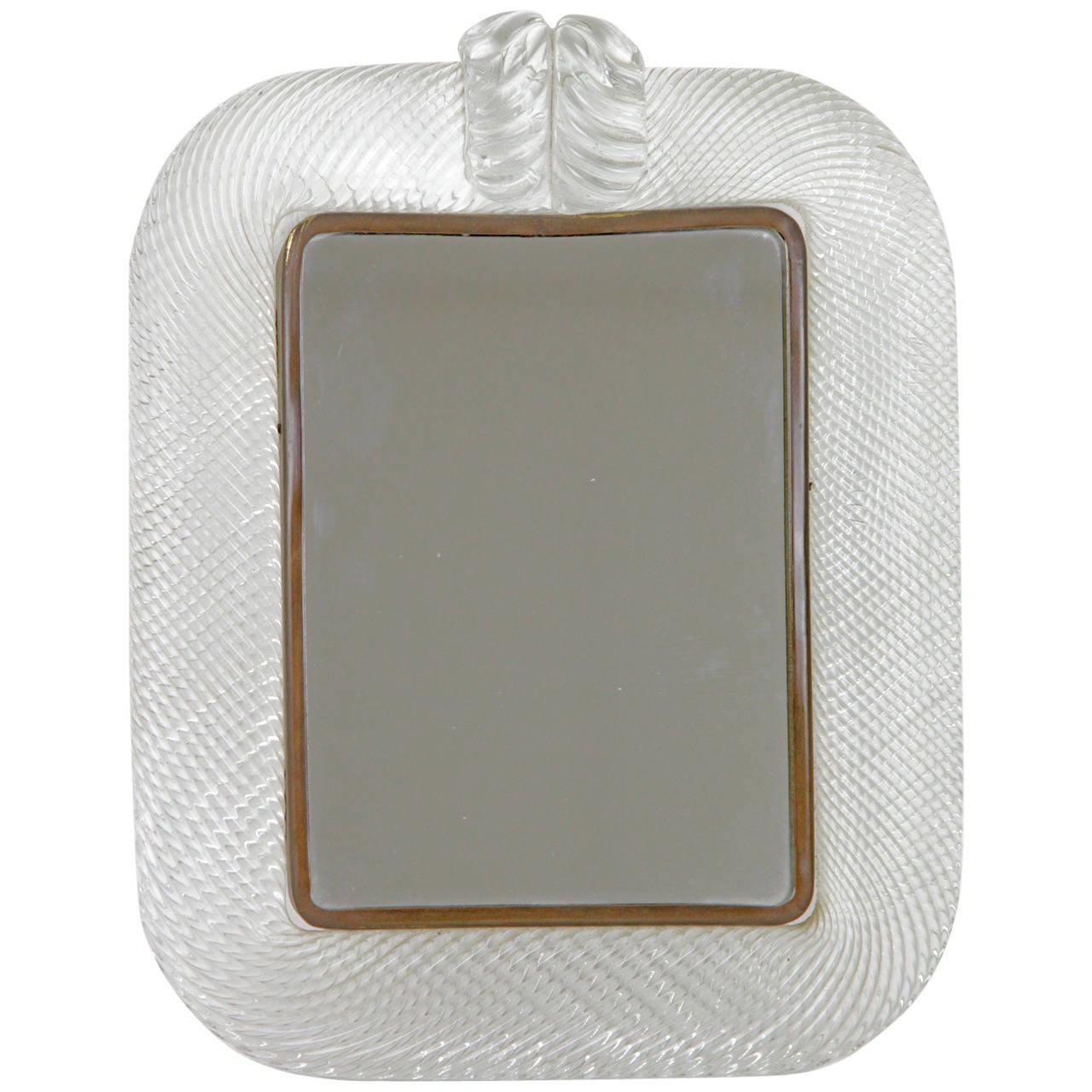 Wonderful small italian wall mirror probably murano glass for Small wall mirrors for sale
