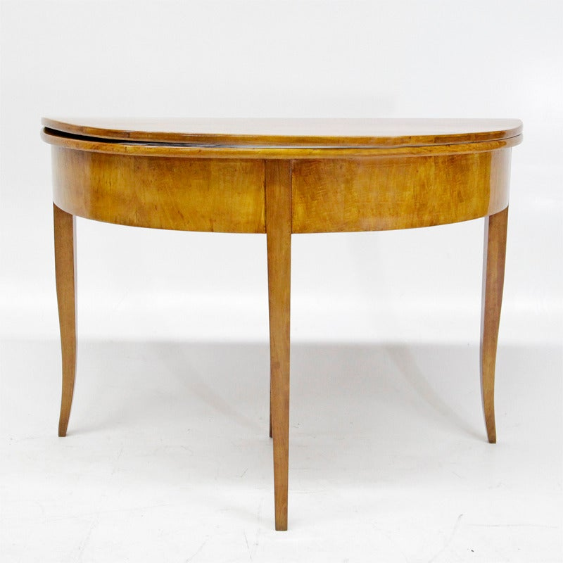 Hinged Biedermeier Demilune Console Table from Germany  : MG2408 1 from 1stdibs.com size 800 x 800 jpeg 61kB