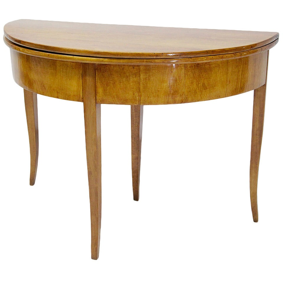 Hinged Biedermeier Demilune Console Table from Germany  : 2382162 1 from www.1stdibs.com size 960 x 960 jpeg 75kB