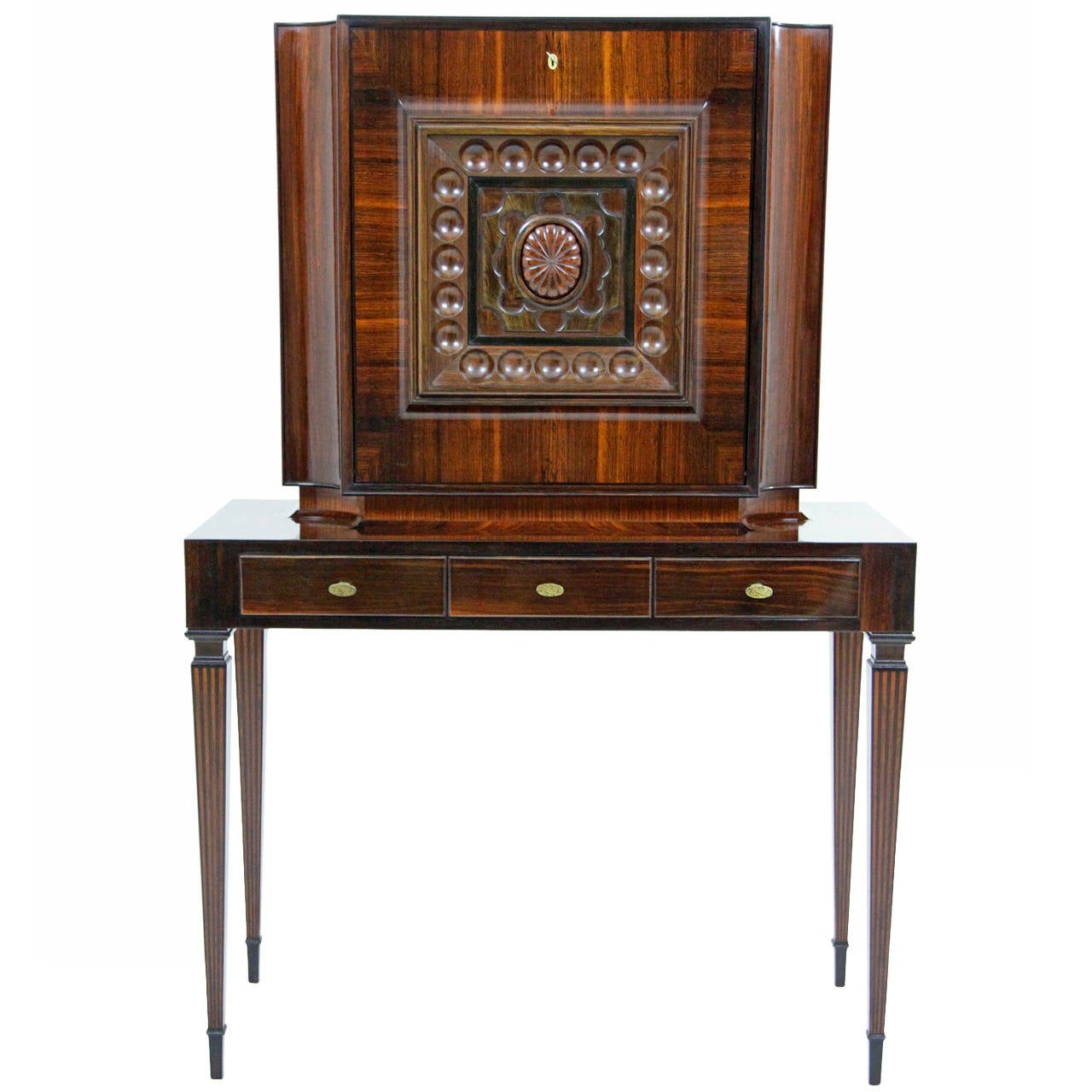 Stunning italian secretaire possibly by paolo buffa mid for Mid 20th century furniture