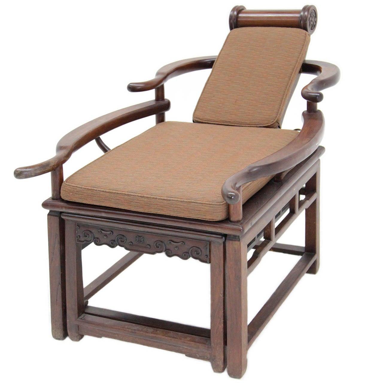 Stupendous Exceptional Asian Recliner Or Deck Chair Circa 1900 1910 Creativecarmelina Interior Chair Design Creativecarmelinacom