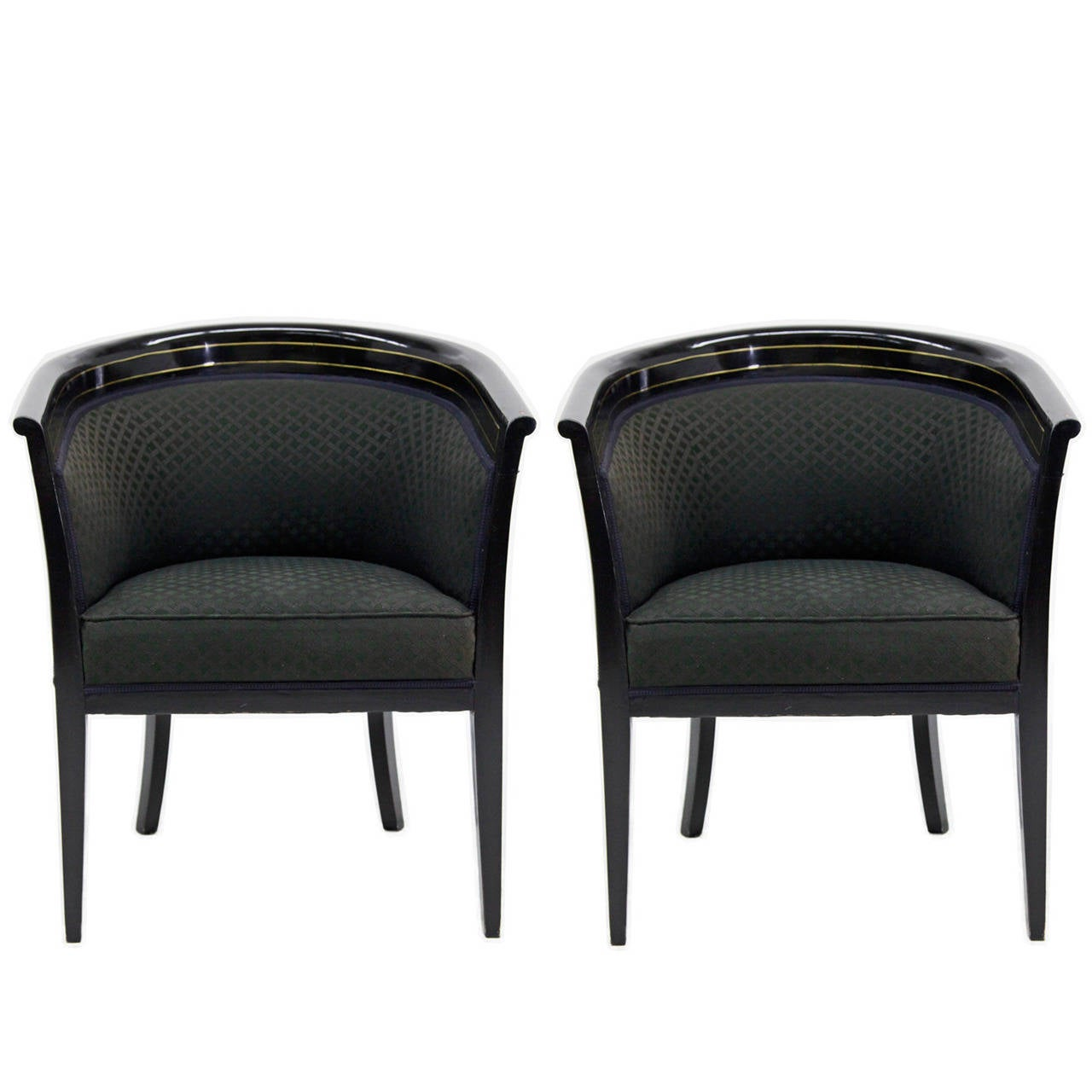 Elegant Pair of French Art Deco Armchairs, circa 1920s