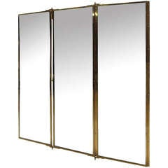Miroir Brot Tryptich Mirror from the Yves Saint Laurent Shop, France