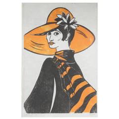 Lady with Orange Hat, 1981, Epreuve d'Artiste