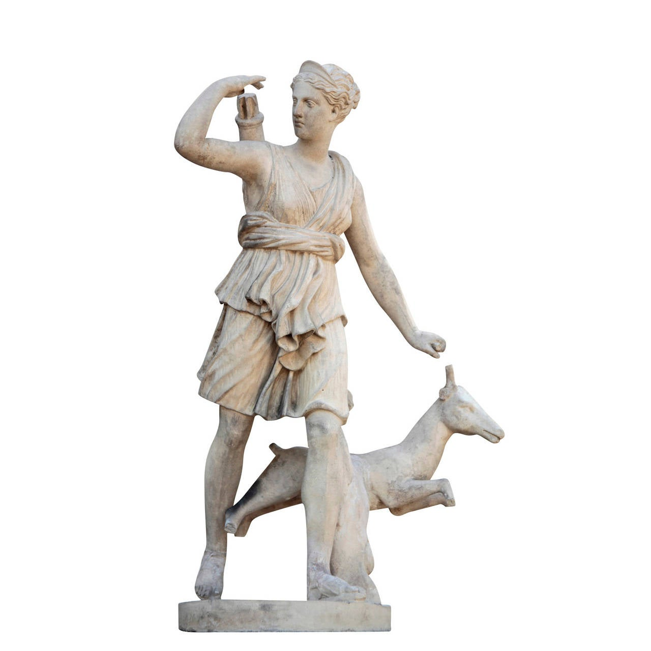Pair of French Sculptures, Diana and Apollo, Late 19th Century 2
