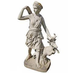 """Beautiful Sculpture """"Diana von Versailles"""" 20th Century"""