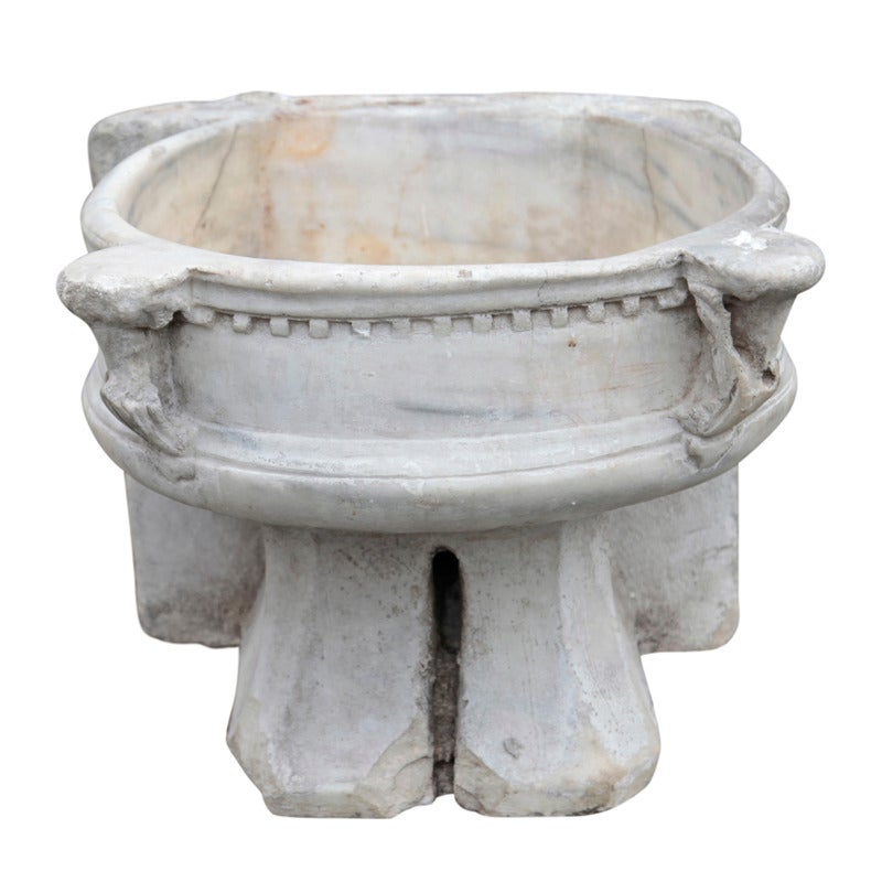 Italian Fountain Pool With Dentils At Least From The 19th Century For Sale At 1stdibs