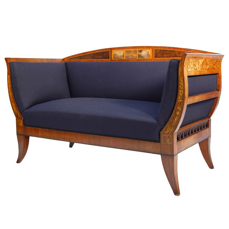 German biedermeier sofa at 1stdibs for Urban sofa deutschland