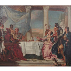 Oil Painting by Franz Martin Kuen - The Banquet of Cleopatra, 1771