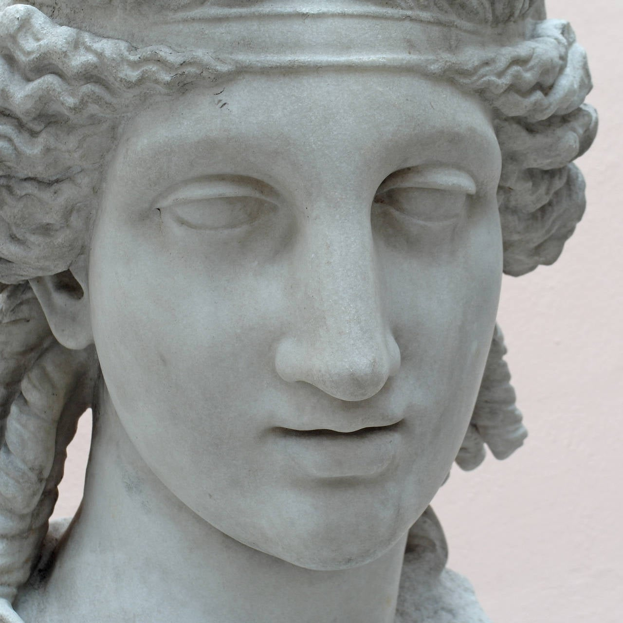 Italian Marble Bust after a Greek Model, circa Italy, 19th Century For Sale