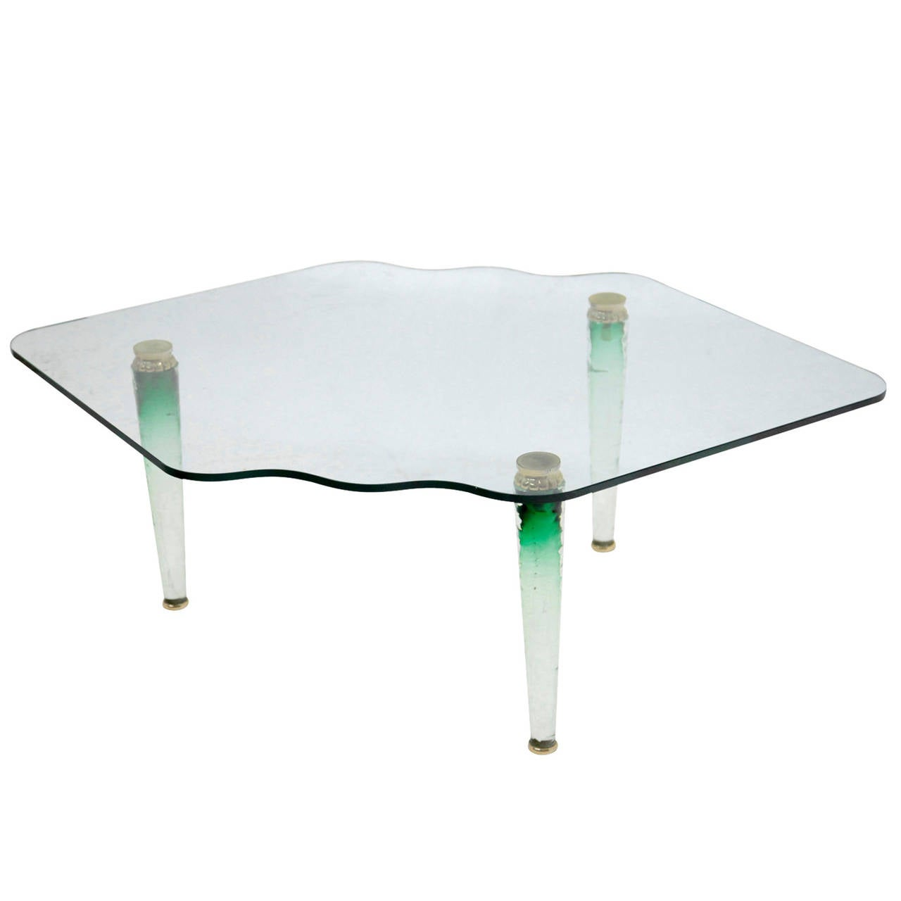 Italian Murano Glass Coffee Table From The 1970s For Sale At 1stdibs