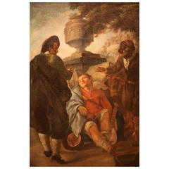 Gorgeous Italian Rococo Painting