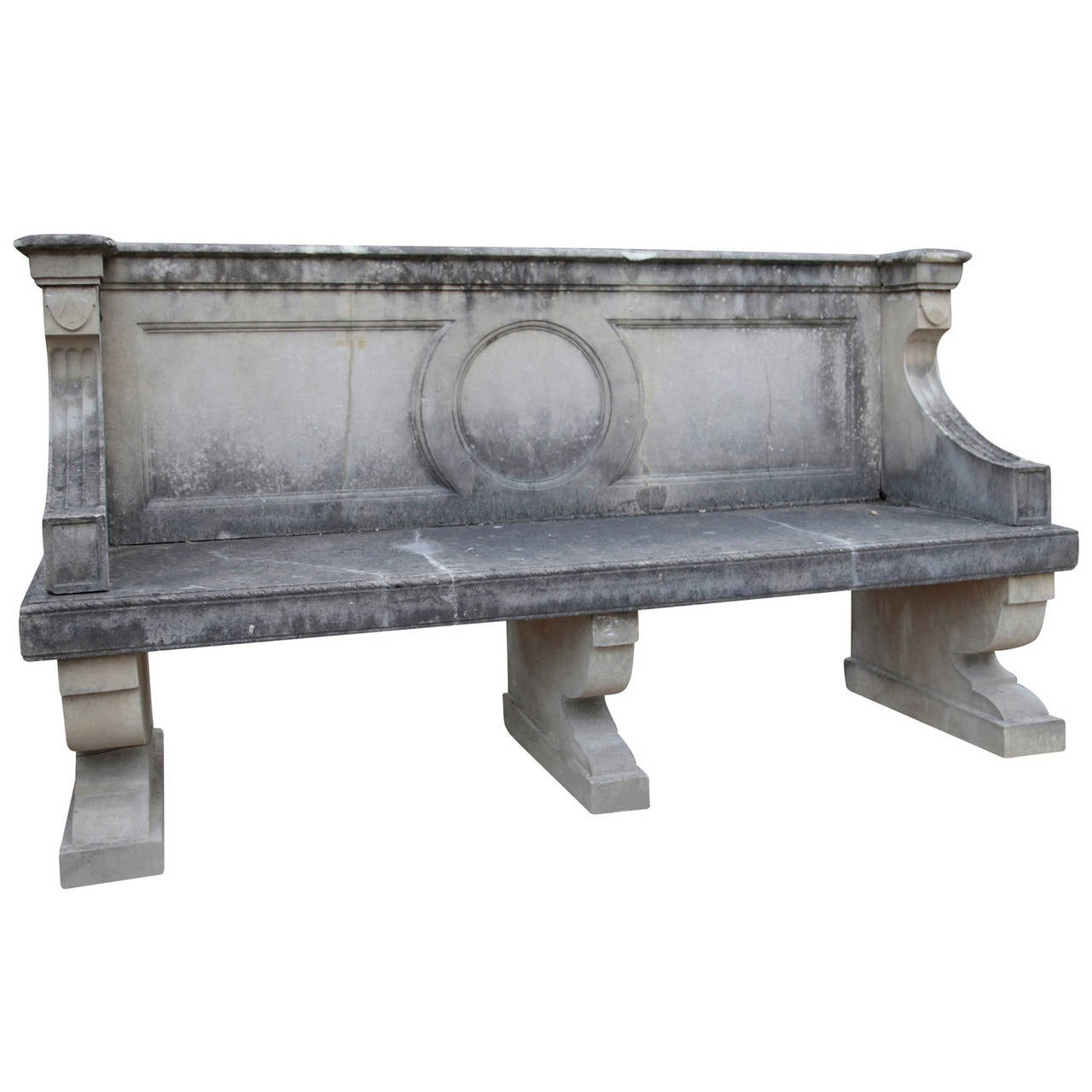 Elegant English Park Bench from the 20th Century