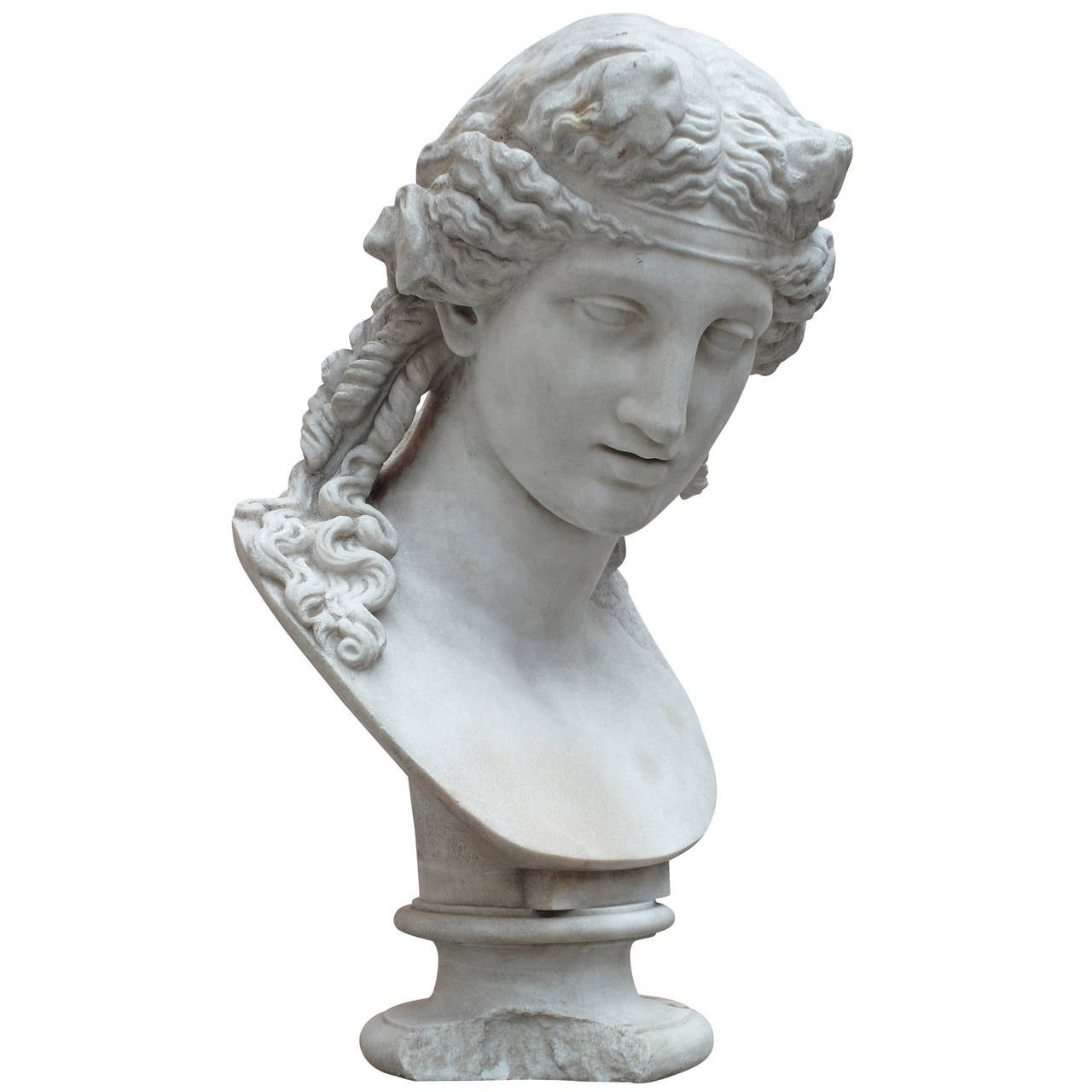 Marble Bust after a Greek Model, circa Italy, 19th Century For Sale
