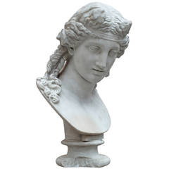 Marble Bust after a Greek Model, circa Italy, 19th Century