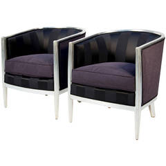 Pair of French Art Deco Bergeres