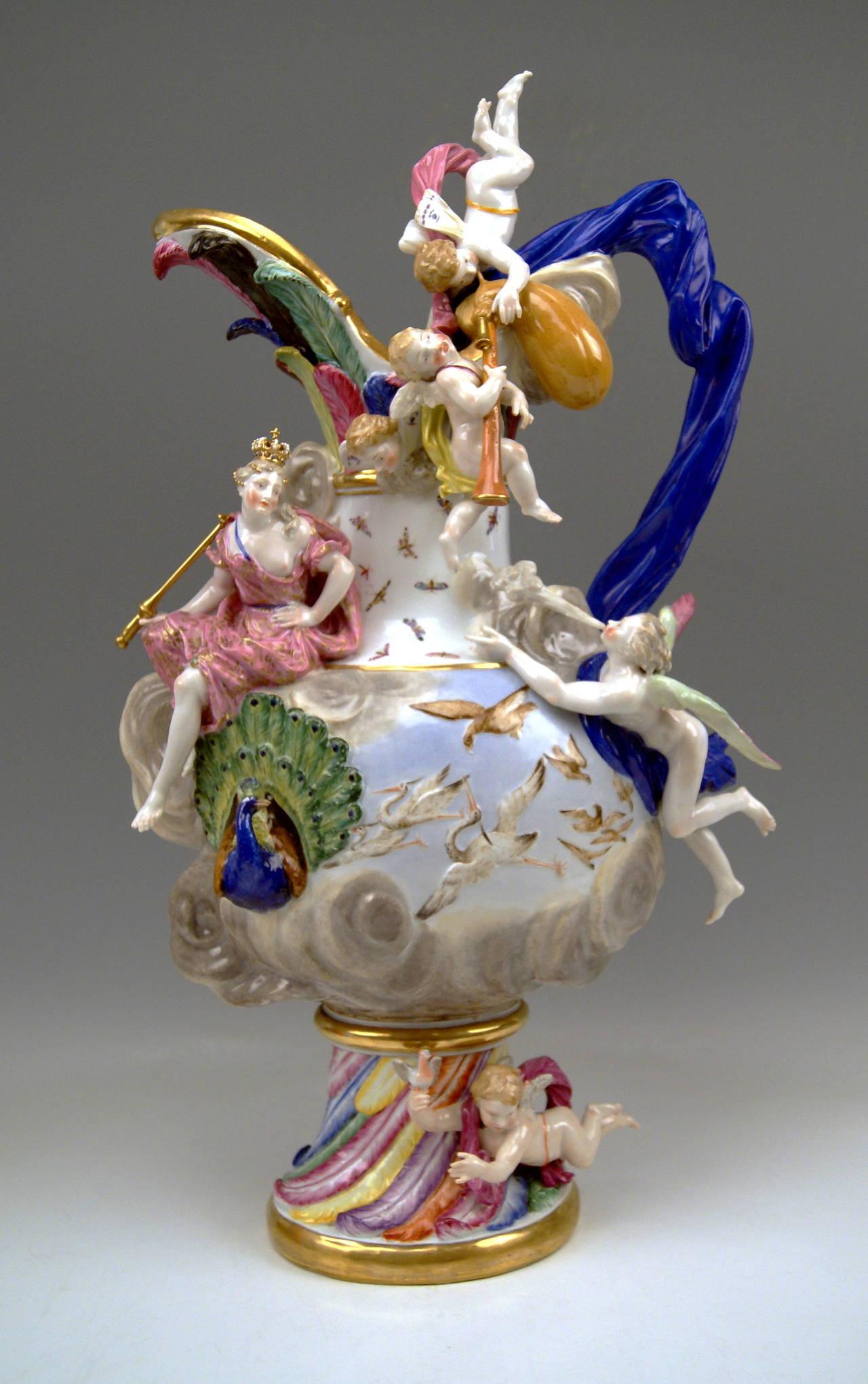 meissen porcelain huge ewer air by k ndler made 19th century at 1stdibs. Black Bedroom Furniture Sets. Home Design Ideas
