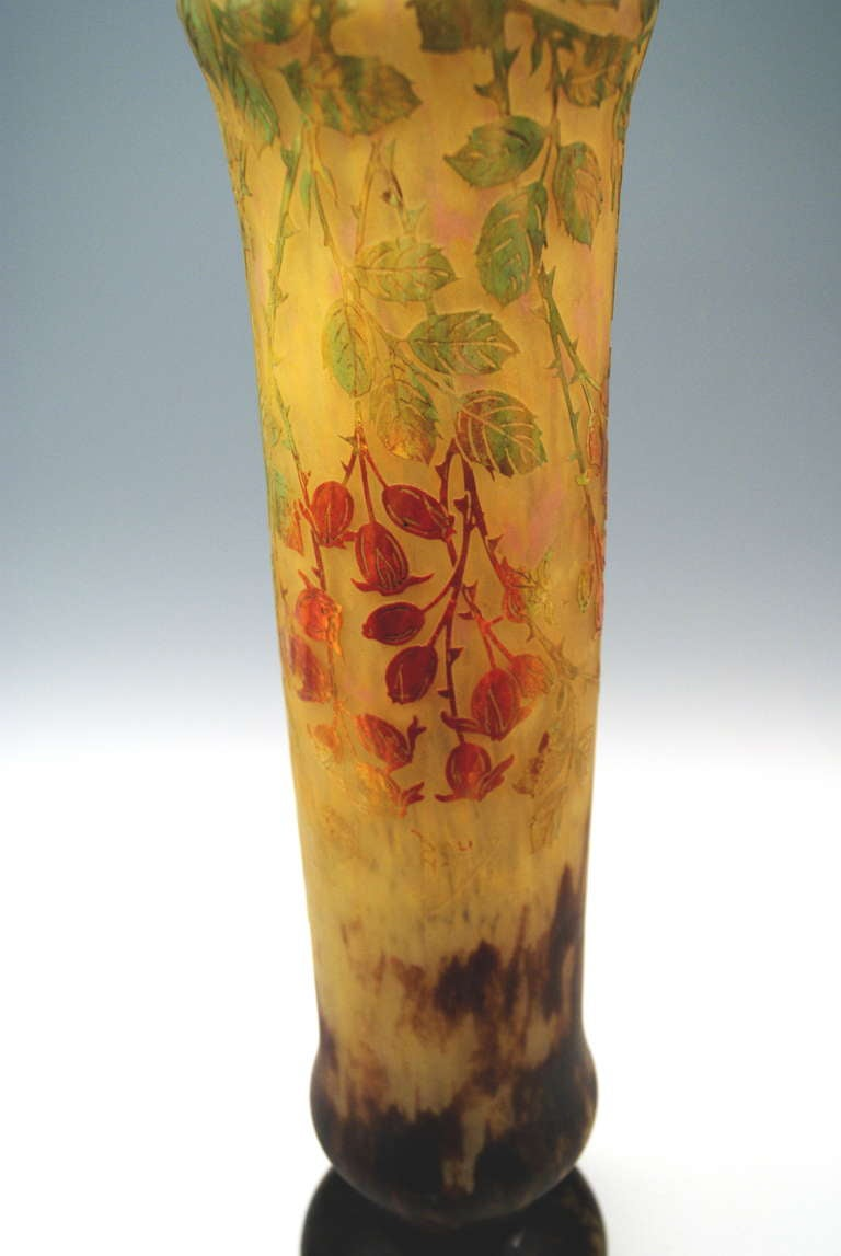 Daum Nancy Huge Vase Art Nouveau France Lorraine, circa 1906 For Sale 1