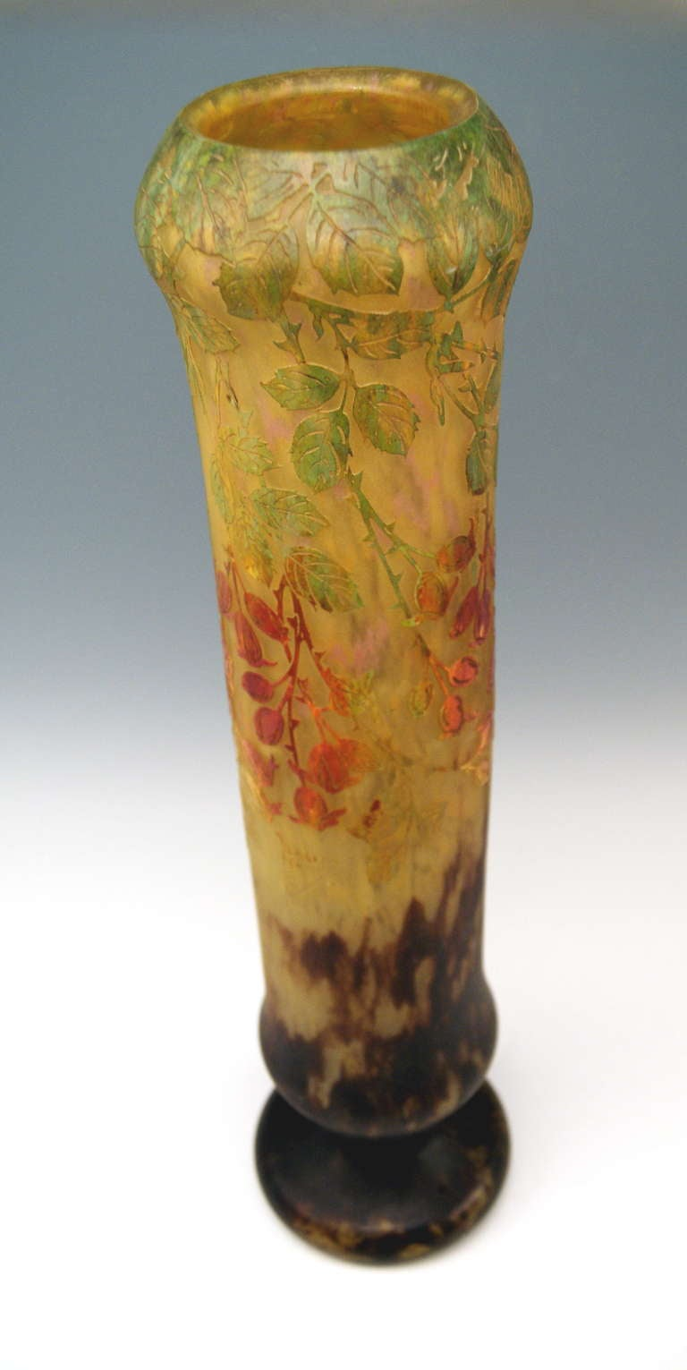 Daum Nancy Huge Vase Art Nouveau France Lorraine, circa 1906 For Sale 2