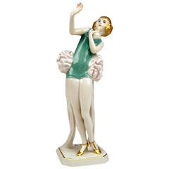 Rosenthal Germany Female Art Deco Figurine Janine by D. Charol, circa 1929