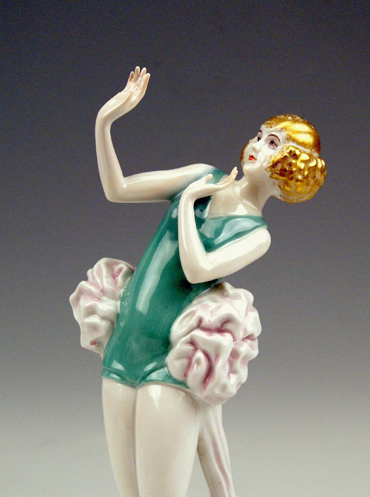 Porcelain Rosenthal Germany Female Art Deco Figurine Janine by D. Charol, circa 1929