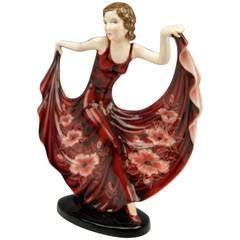 Goldscheider Vienna Lady Dancer Arabella By Stefan Dakon C.1937