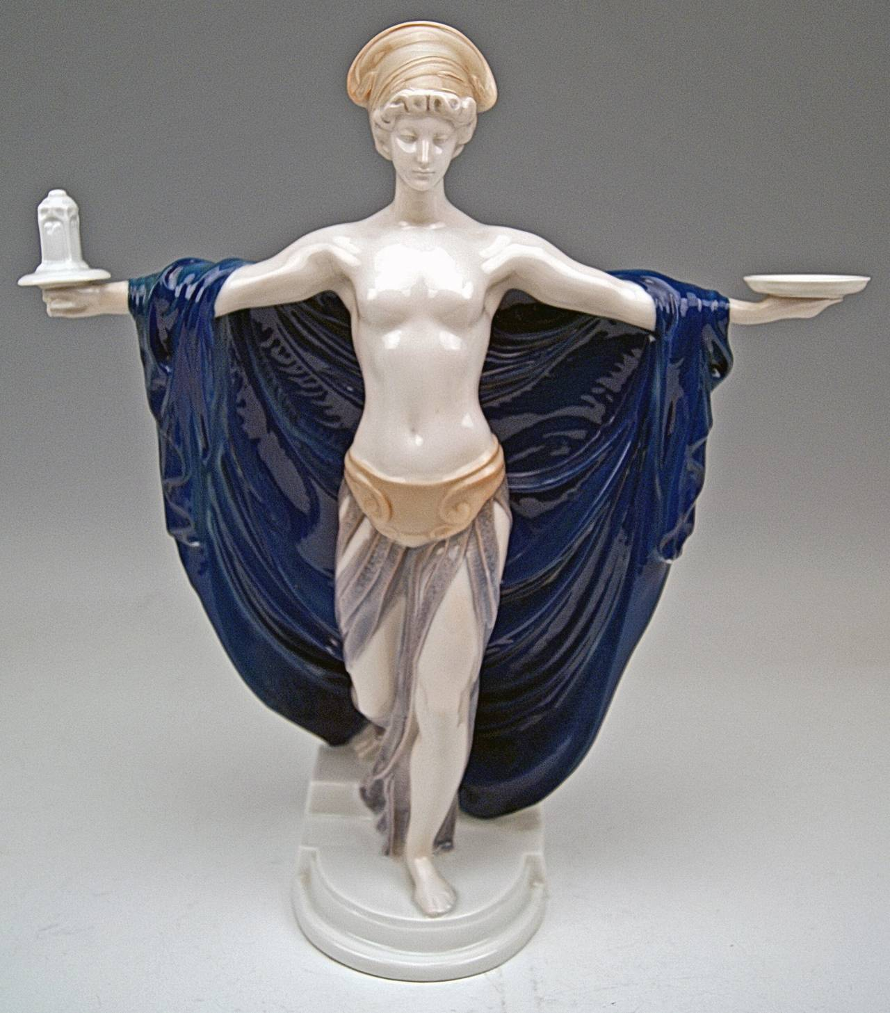 Early 20th Century Rosenthal Germany Rare Figurine Temple Dedication by F. Liebermann, circa 1914 For Sale