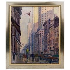 New York By Rudolf Ullik Circle Kokoschka Egon Schiele Oil On Canvas 1972