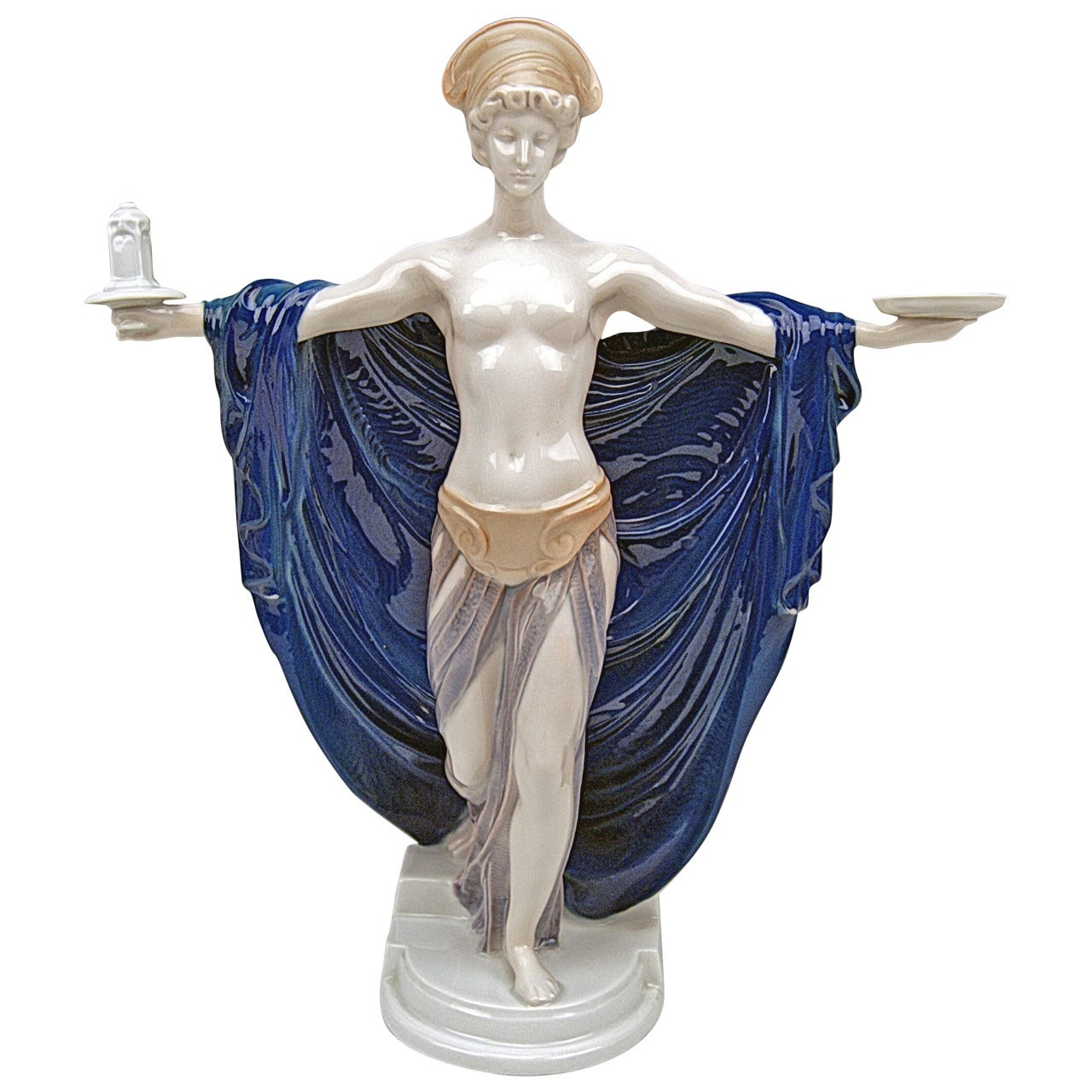 Rosenthal Germany Rare Figurine Temple Dedication by F. Liebermann, circa 1914