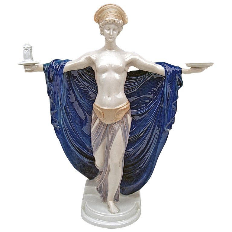 Rosenthal Germany Rare Figurine Temple Dedication by F. Liebermann, circa 1914 For Sale