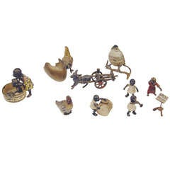 Vienna Bronze Figurines' Group En Miniature Made by Franz Bergman(n) ca 1900