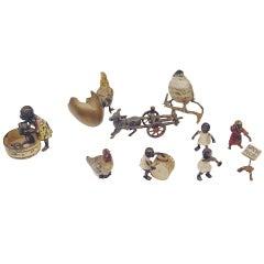 Vienna Bronze Figurines' Group En Miniature Made by Franz Bergman(n) ca 1900