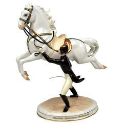 "Vienna Augarten ""Capriole"" Spanish Horse Riding School Figurine, circa 1965"