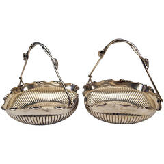 German Silver Baskets with Handles by W. Binder & Ap, Made before 1899