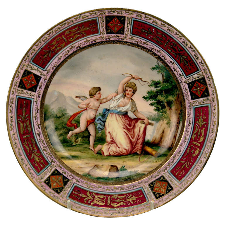 Plate Imperial Viennese Porcelain Manufactory dated 1816