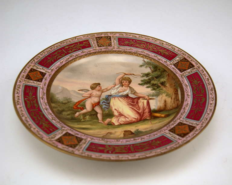 Austrian Plate Imperial Viennese Porcelain Manufactory dated 1816 For Sale