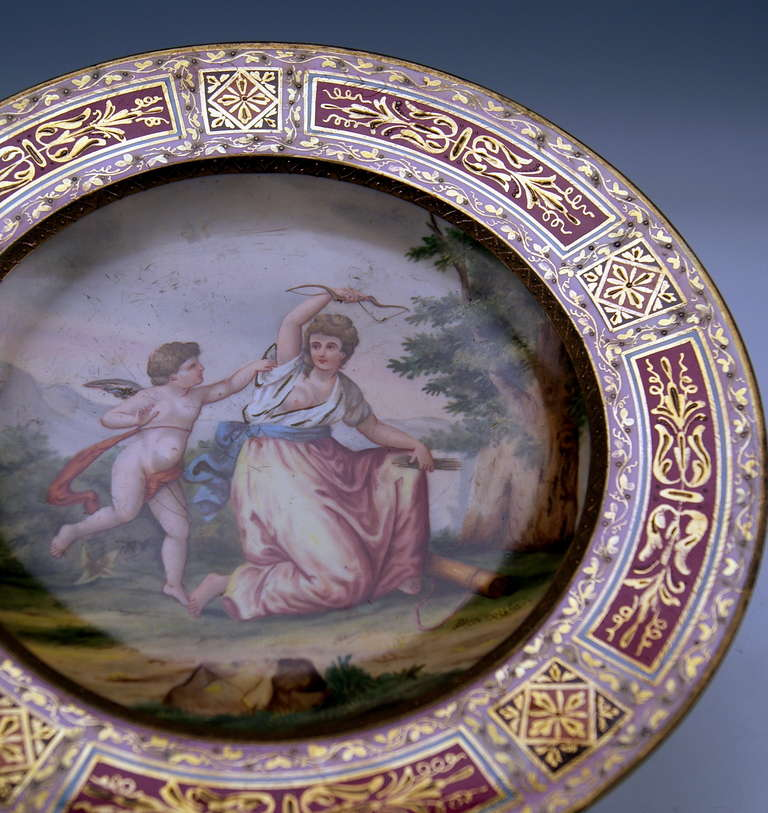 Plate Imperial Viennese Porcelain Manufactory dated 1816 In Excellent Condition For Sale In Vienna, AT